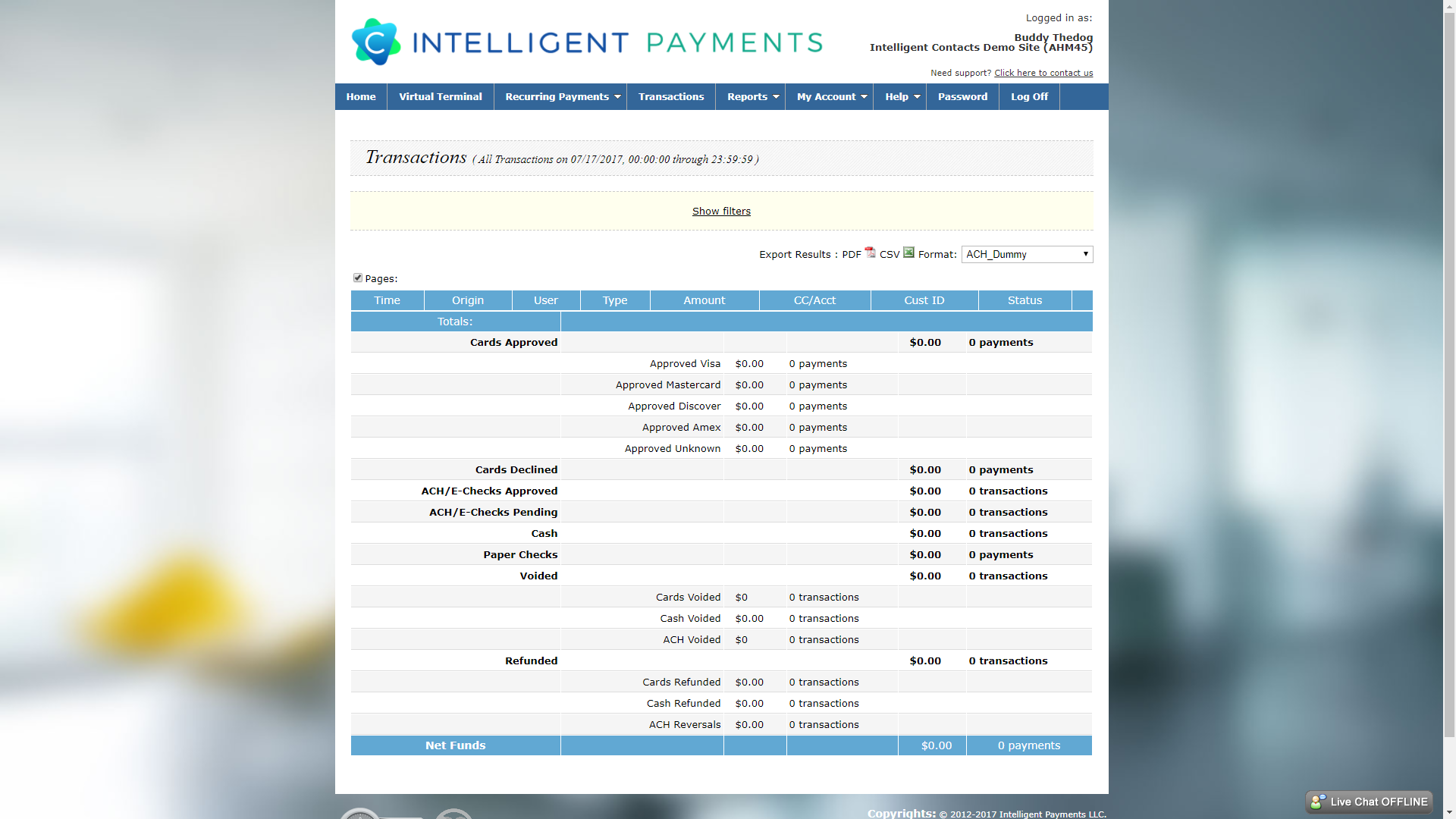 Intelligent Contacts puts a comprehensive payment processing and reporting system at your fingertips.